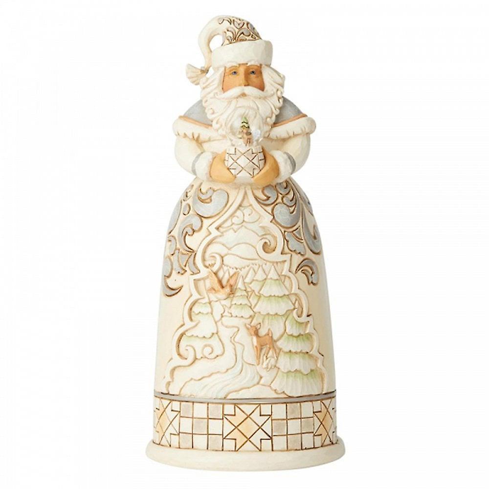 Jim Shore Heartwood Creek Santa With Mini Globe Figurine