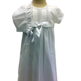 Doping jurk in katoen met motorkap, witte Bow-genade van Zweden