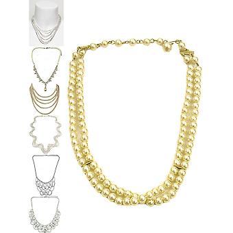 Krištáľ vintage štýl náhrdelník
