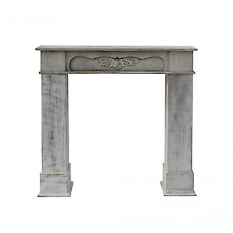 Furniture Rebecca Frame Decorative Fireplace White Wood Classic 99x104x21