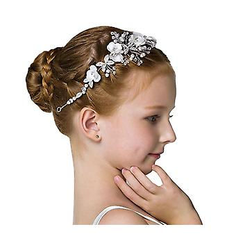Girls white and silver sparkly headband