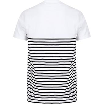 Front Row Adults Unisex Breton Striped T-Shirt