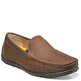 Florsheim Mens draft venetian Leather Square Toe Penny Loafer, Brown, Size 7.5