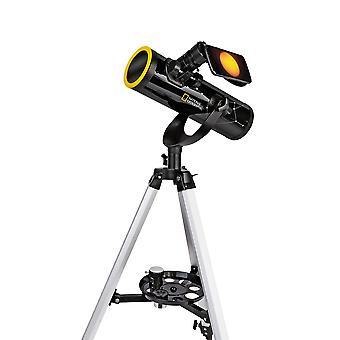 NATIONAL GEOGRAPHIC 76/350 Telescopio con filtro solar y soporte para smartphone
