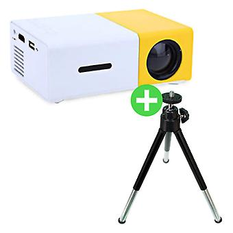 Salange YG300 LED Projector & Tripod - Mini Projector Home Media Player Yellow