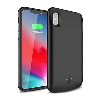 Stuff Certified® iPhone XR 5000mAh Slim Power Case Power Bank Charger Battery Cover Case Cover Black