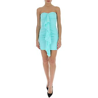 Amen Ams20434244 Kvinnor's ljusblå polyesterklänning