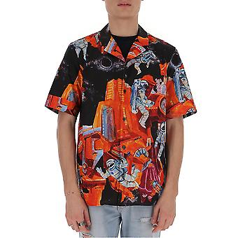 Valentino Tv3aa7695tw12q Men's Multicolor Cotton Shirt