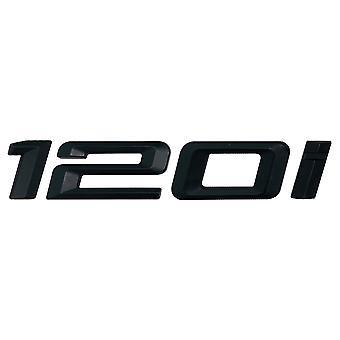 Matt Black BMW 120i Car Model Rear Boot Number Letter Sticker Decal Badge Emblem For 1 Series E81 E82 E87 E88 F20 F21 F52 F40