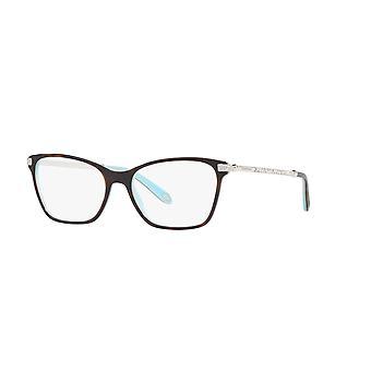 Tiffany TF2158B 8134 Top Havana on Tiffany Blue Glasses