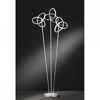 Lâmpada de piso wofi Eliot Contemporâneo 3 Luz led em acabamento prata 3410.03.70.8000