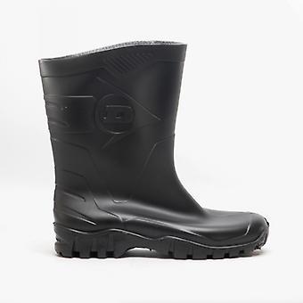 Dunlop Dee Unisex Half Length Wellington Boots Black