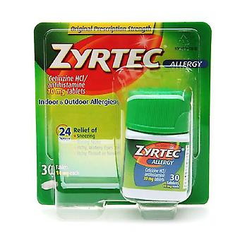 Zyrtec 24 hours allergy, 10 mg, tablets, 30 ea