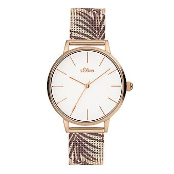 s.Oliver Ladies Watch Wristwatch Stainless Steel SO-3979-MQ