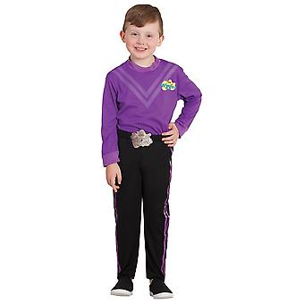 Lachy Purple Wiggle The Wiggles Deluxe Book Week Dress Up Boys Costume Size 3-5