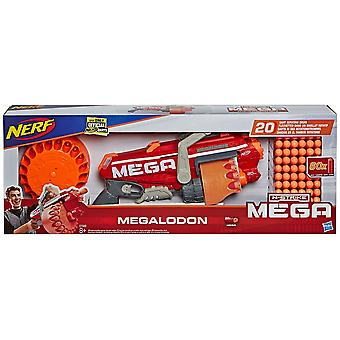 Nerf Megalodon N-Strike Blaster with 60 Mega Whistler Darts
