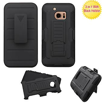 ASMYNA Advanced Armor Stand Case with Holster pour HTC 10 - Noir/Noir