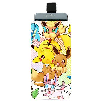 Pokemon Pikachu & Eevee Pull-up Mobile Bag