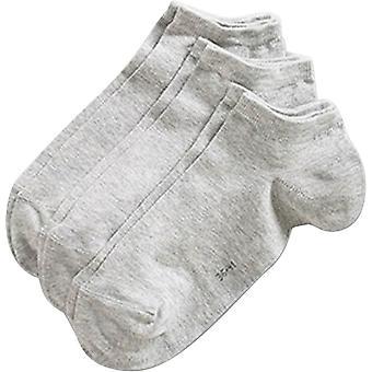 Esprit blocco solido colore Sneaker 3 Pack Socks - Storm Grey