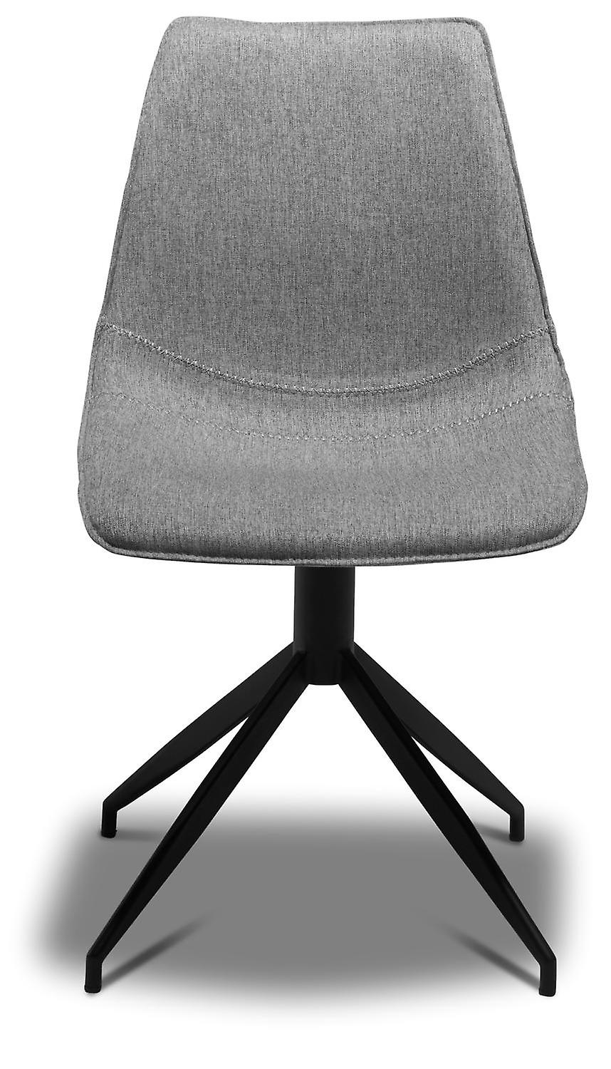 Furnhouse Isabel Dining Chair, Light Grey, Metal Base, 48x57x85 cm, Set of 2