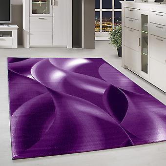 ShortFlor Rug Design Shadow Pattern Living Room Rug Purple Mottled