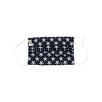 Mio UTS3 Starfish Blue and White Cotton Face Mask with Removable Nose Wire