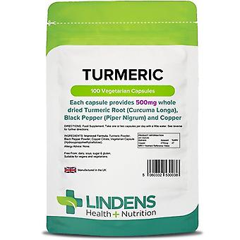 Lindens Turmeric 500mg with Black Pepper and Copper Vcaps 100 (38)