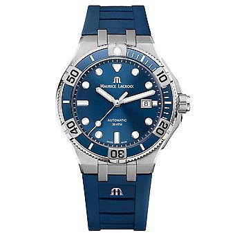 Maurice LaCroix Aikon Automatik Venturer Blau Dial Gummiband Herren's Uhr AI6058-SS001-430-1