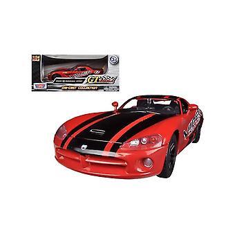 MotorMax motor Max Dodge Viper rood & zwart 1:24
