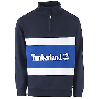 Mężczyźni & apos;s Timberland cut i szyć lejek szyć sweter w kolorze niebieskim