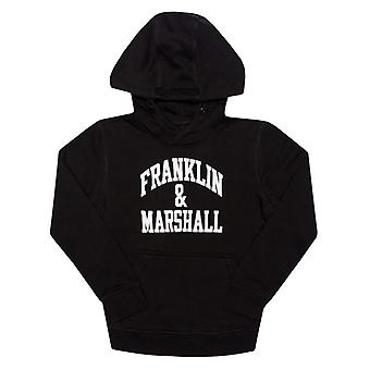 Boy''s Franklin And Marshall Junior F e M Hoody in Black
