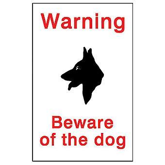 Placa de identificação da casa Co Cuidado com o Sinal do Cachorro