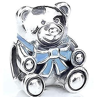 PANDORA Its A Boy Teddy Bear Charm - Blue Enamel - 791124EN41