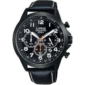 Lorus RT373FX-9 Black Leather Chronograph Wristwatch