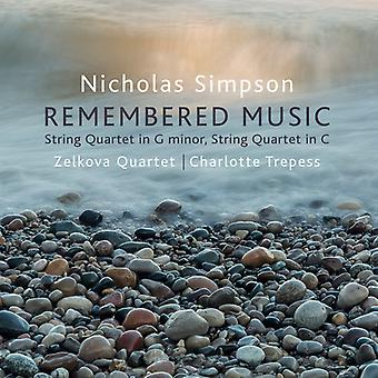 Remembered Music [CD] USA import