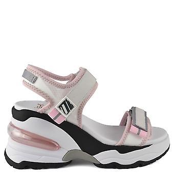 الرماد الأحذية العميقة الأبيض شفافة إسفين مدرب الصنادل