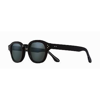 Cutler and Gross 1290/2 07 Black/Semi Matte Blue Mirror Sunglasses