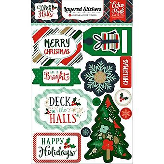 Echo Park Deck The Halls Layered Stickers