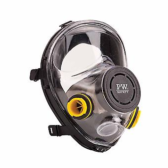 Portwest - Vienna Class 2 Full Face Respirator Mask With Bayonet Connectors