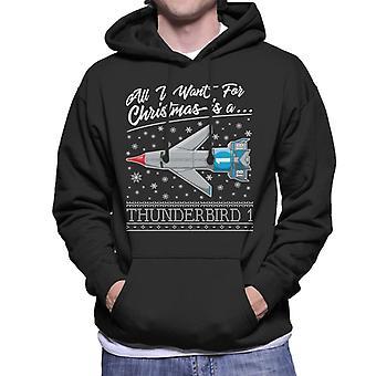 Thunderbirds Tutto quello che voglio per Natale è Thunderbird 1 Uomini 's Felpa con cappuccio