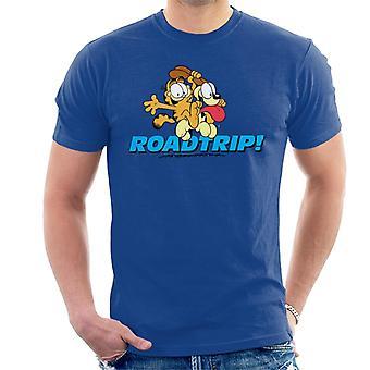 Garfield en Odie op een Road Trip mannen ' s T-shirt