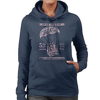 Pepsi Cola Retro Airdrop Bottle Crate Women's Hooded Sweatshirt