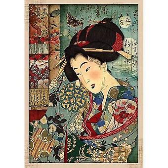 Papier de riz A4 Geisha (DFSA4392)