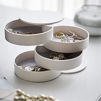 Rotatable Jewelry Storage Box , Accessory Tray With Lid