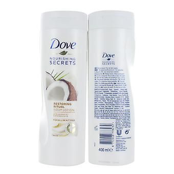 Dove Nourishing Secrets Restoring Ritual Body Lotion 400ml with Coconut Oil and Almond Milk - All Skin Types