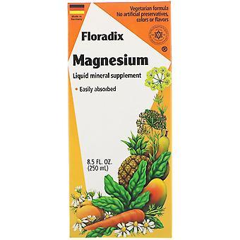 Flore, Floradix, Magnésium, Supplément minéral liquide, 8,5 fl oz (250 ml)
