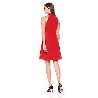 Lark & Ro Frauen's Ärmellose Mock Neck A-Linie Kleid