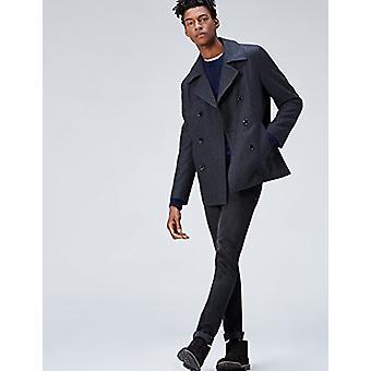 find. Men's Cotton Crew Neck Sweater, Blue (Navy), XL (US L - XL)
