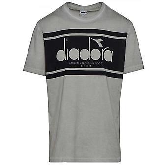 Diadora Grau Kurzarm T-Shirt