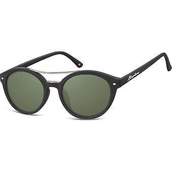 النظارات الشمسية Unisex بانتو مات الأسود / الأخضر (S21)